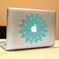 Паг цветок кольцо декоративные ноутбука Наклейка съемный пузырь бесплатно самоклеящиеся наклейки кожи