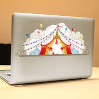 Паг цирк декоративный ноутбука Наклейка съемный пузырь бесплатно самоклеящиеся наклейки частичное цвет кожи