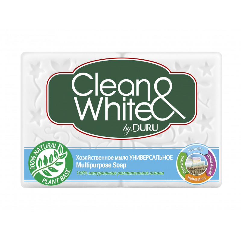 Мыло хозяйственное DURU белое (4*125г)