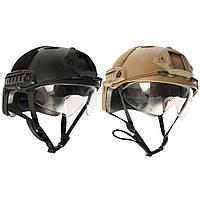 Тактической страйкбол Paintball SWAT игра война защитная быстро шлем с таращить глаза