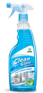 "Очиститель стекол и зеркал ""Clean glass"" (голубая лагуна) , 600 мл., фото 2"