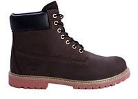 "Зимние ботинки на меху Timberland 6 inch ""Dark Brown"" - ""Темно - Коричневые"""