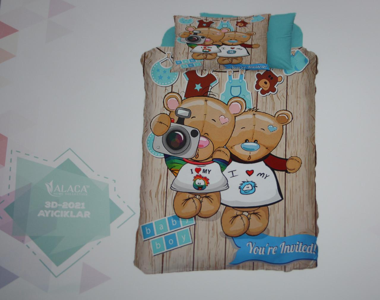 Детское постельное белье Alaca 3D Ayiciklar