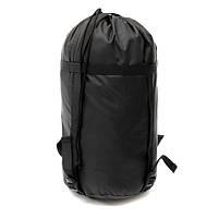 Легкий материал сжатия мешок открытый кемпинг путешествия спальный мешок черный