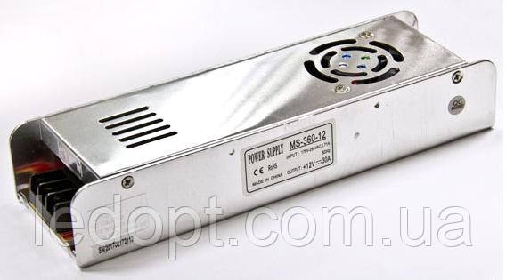 Блок питания 360W 12V для LED ленты 30А MS-360-12
