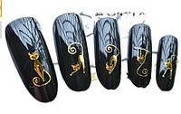 Cлайдер дизайн, золотые котики Y-063, фото 1