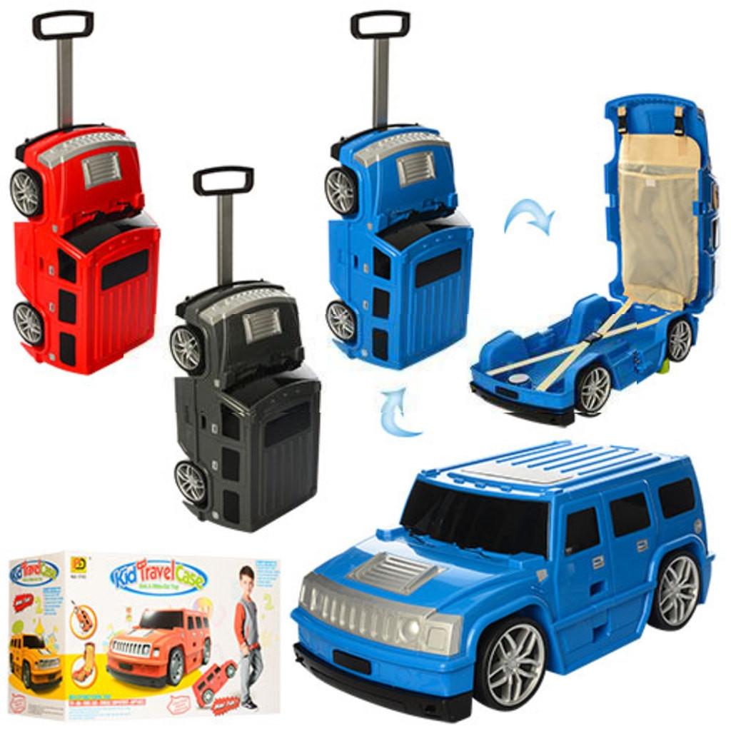 Детский чемодан машинка