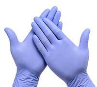 Перчатки нитриловые синие 100 шт
