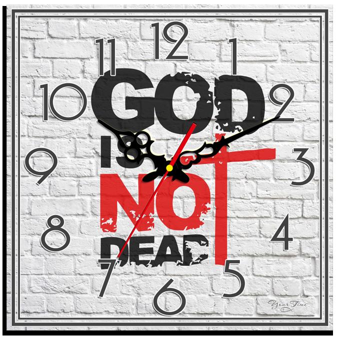 """Годинник настінний квадратний """"GOD IS NOT DEAD"""""""