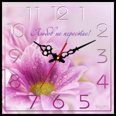 """Годинник настінний квадратний """"Любов не перестає!"""", фото 2"""