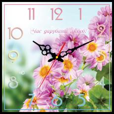 """Годинник настінний квадратний """"Час дарувати любов!"""", фото 2"""