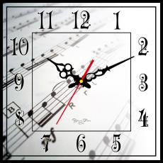 Годинник настінний квадратний