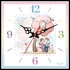 """Годинник настінний квадратний """"Любов довготерпить!"""""""