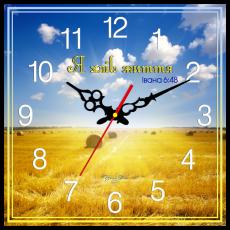 """Годинник настінний квадратний """"Я хліб життя"""", фото 2"""