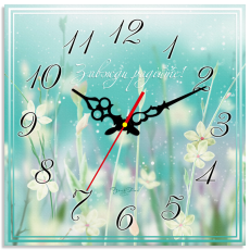 """Годинник настінний квадратний """"Завжди радійте"""", фото 2"""