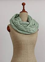 Вязаный мятный шарф-хомут SZ-EFK-45