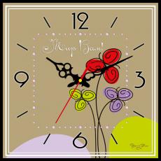 """Годинник настінний квадратний """"Мир вам"""", фото 2"""