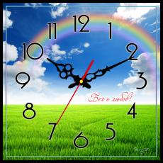 """Годинник настінний квадратний """"Бог є любов"""", фото 2"""