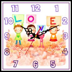 """Годинник настінний квадратний """"Love"""""""