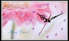 """Годинник настінний прямокутний """"Мир Вам!"""", фото 2"""