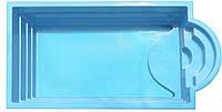 """Стеклопластиковый (стекловолоконный) бассейн """"ГОЛЬФ"""" 5,65 х 2,8 х 1,55м"""