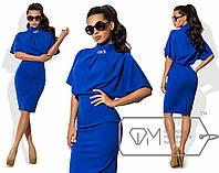 Эффектное женское платье ткань *Креп-Трикотаж* 42 размер норма