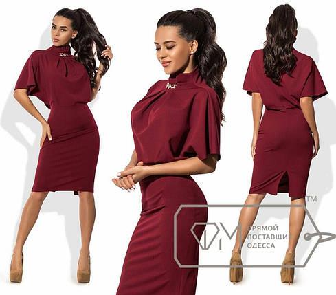 Эффектное женское платье ткань *Креп-Трикотаж* 42 размер норма, фото 2