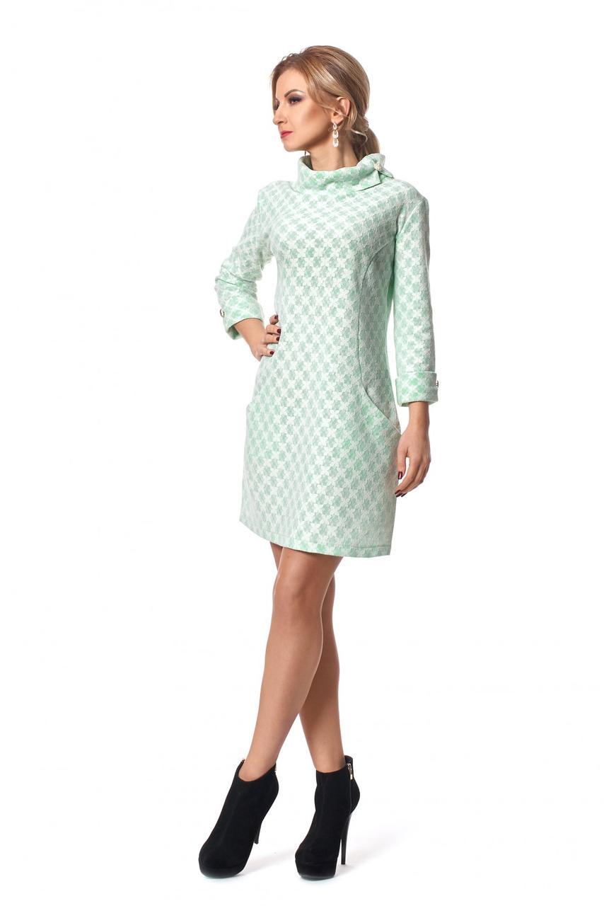 8d0b8d5592f Мятное платье на каждый день из шерсти - Оптово-розничный магазин одежды