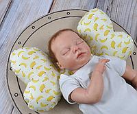 """Подушка в автокресло для новорожденных """"Butterfly"""" бананы"""