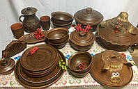 Набор посуды из красной глины на 6 персон, фото 1