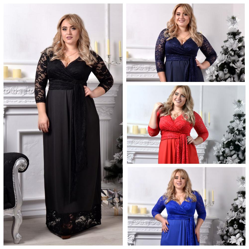 d7fabd3bdfa Нарядное длинное платье Большого размера 9091 МВ до 56р - Интернет -  магазин одежды Mixton в