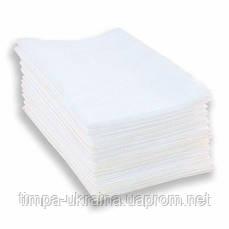 Полотенце одноразовое 25х40 50 шт (Timpa) гладкие белые нарезанные