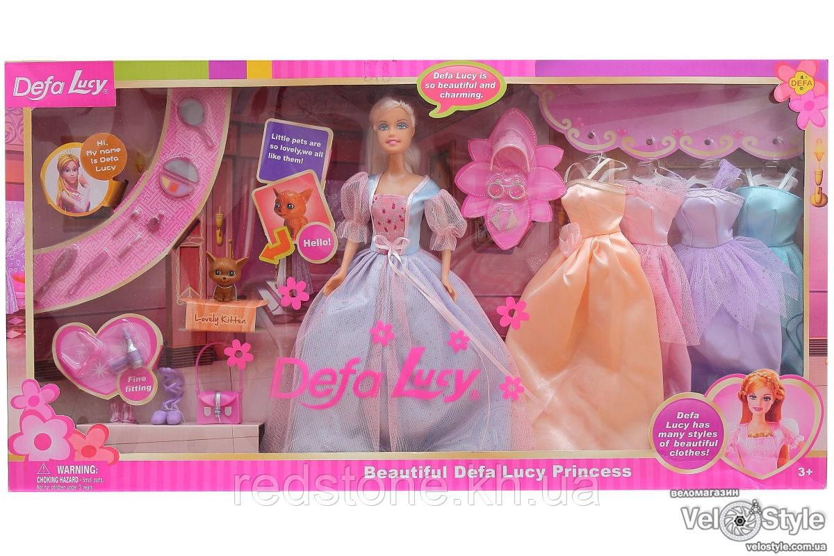 Кукла DEFA с гардеробом 6073B