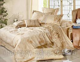 Комплект постельного белья La Scala шелковый жаккард с вышивкой ST-01 (Двуспальный)