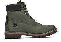 """Зимние ботинки на меху Timberland 6 inch """"Darl Green Khaki"""" - """"Темно - Зеленые (Хаки)"""""""