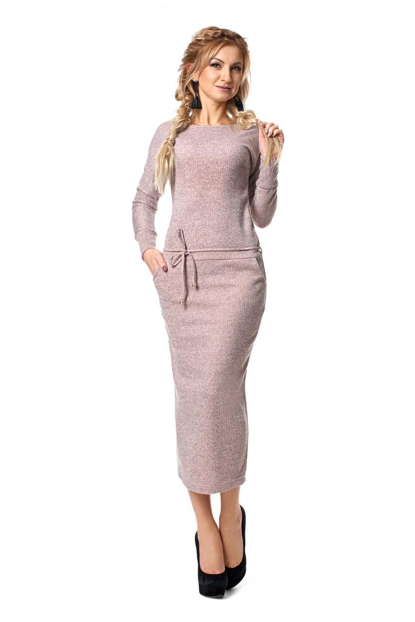 119c138cd856 Удобное повседневное платье из ангоры с карманами - Оптово-розничный  магазин одежды