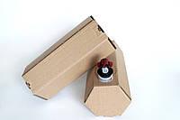 """Коробка шестигранная картонная 2 л """"Бег ин Бокс"""" шестигранник"""