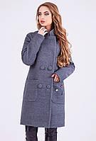 Модное молодежное зимнее пальто из полушерстяной ткани с утеплителем, т.зеленый