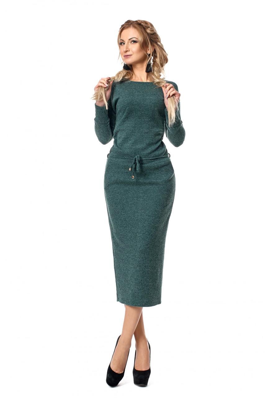 c3bf7ce21c3c Длинное платье из мягкой ангоры с карманами - Оптово-розничный магазин  одежды