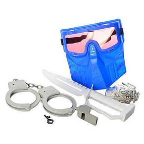 Набор полицейского: автомат, водные пули, мягкие пули, маска, наручники, фото 2