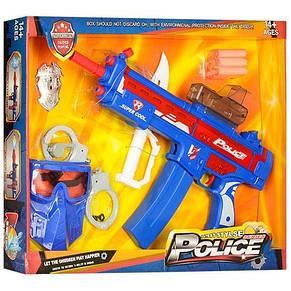 Набор полицейского: автомат, водные пули, мягкие пули, маска, наручники, фото 3