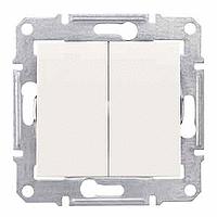 Sedna Выключатель 2-кл. крем SDN0300123