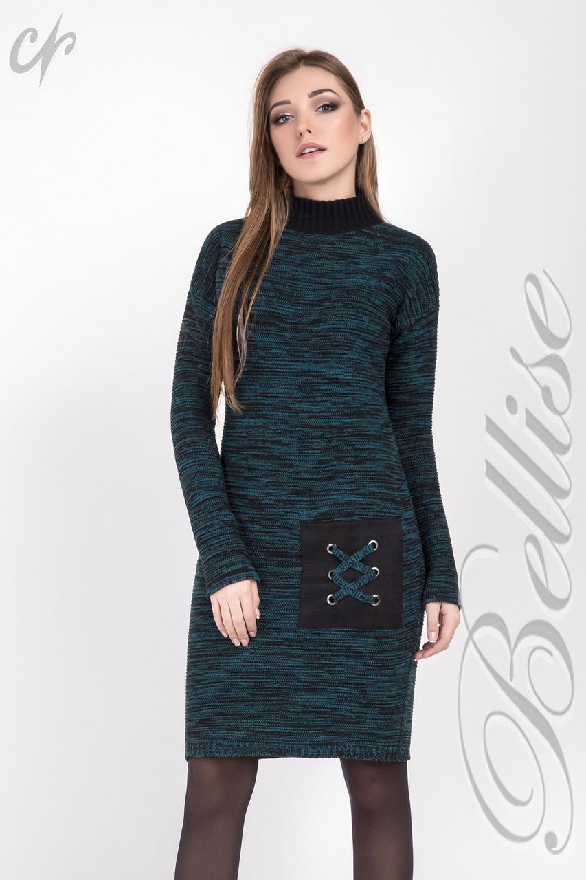 1721c1de26e Теплое женское платье под горло большого размера - VK-Style в Киеве