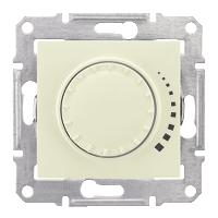 Sedna Светорегулятор (диммер) индуктивный поворотно-нажимной проходной крем SDN2200523