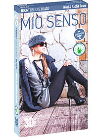 "Колготки Mio Senso ""MOUNT DELICATE BLACK /Wool & R.d."" natural black, size 2 (4766) | 2 шт."