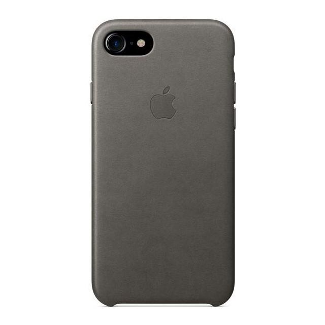 Чехол Apple кожаный для iPhone 8/7 Gray (MMY12ZM/A)
