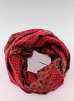 Красный шарф-палантин в горошек SZ-9215