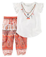 Детский Набор Комплект 2в1 Картерс для девочки Carters (США), Размер 3м