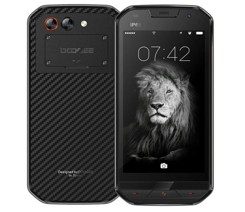 """Смартфон Doogee S30 2/16Gb, 2sim, 5580mAh, IP68, 8/5М/п, экран 5"""" IPS, 4 ядра, GPS, 4G, Android 7.0"""