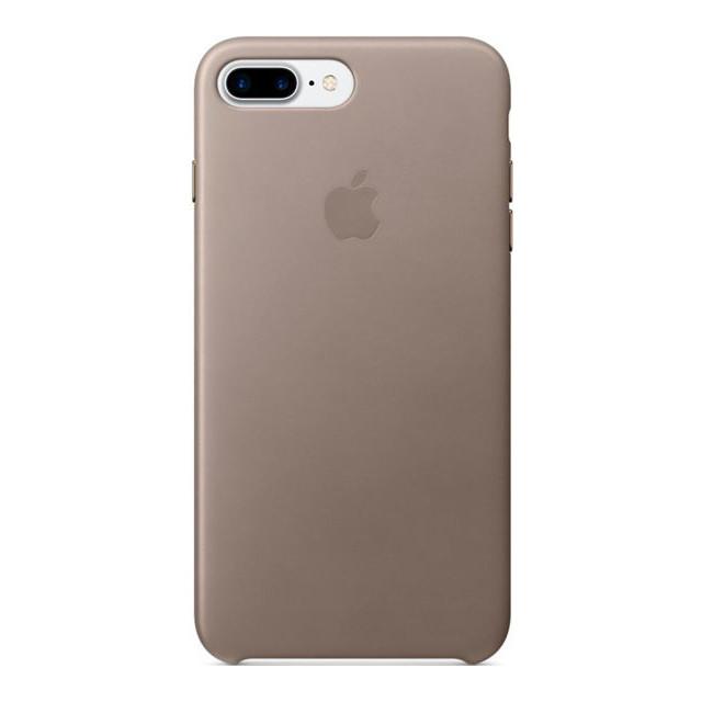 Чехол Apple кожаный для iPhone 8+/7+ Platinum Gray (MPTC2ZM/A)